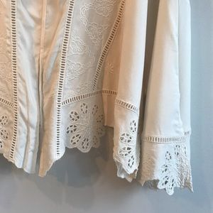 Sundance Jackets & Coats - Sundance Embroidered Lightweight Jacket In Ivory